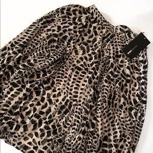 FASHION NOVA Animal Print Blouse